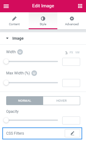 Add CSS Filter To Images