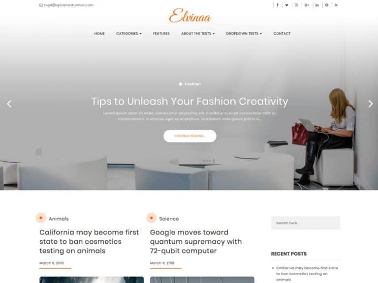 Elvina WordPress Theme