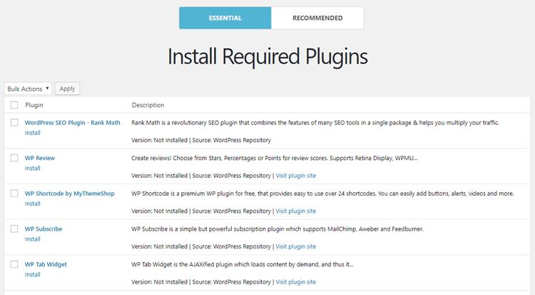 Schema Lite - Required Plugins