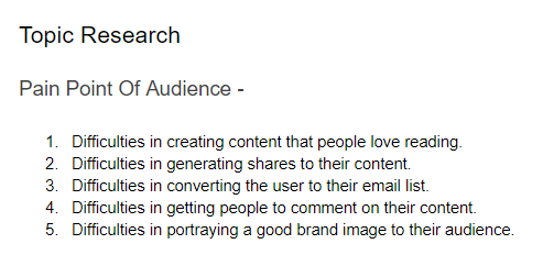 Audience Pain Points - Engaging Content