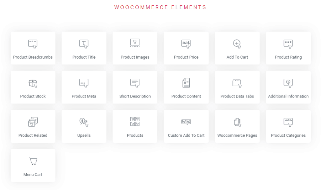 Elementor WooCommerce Widgets